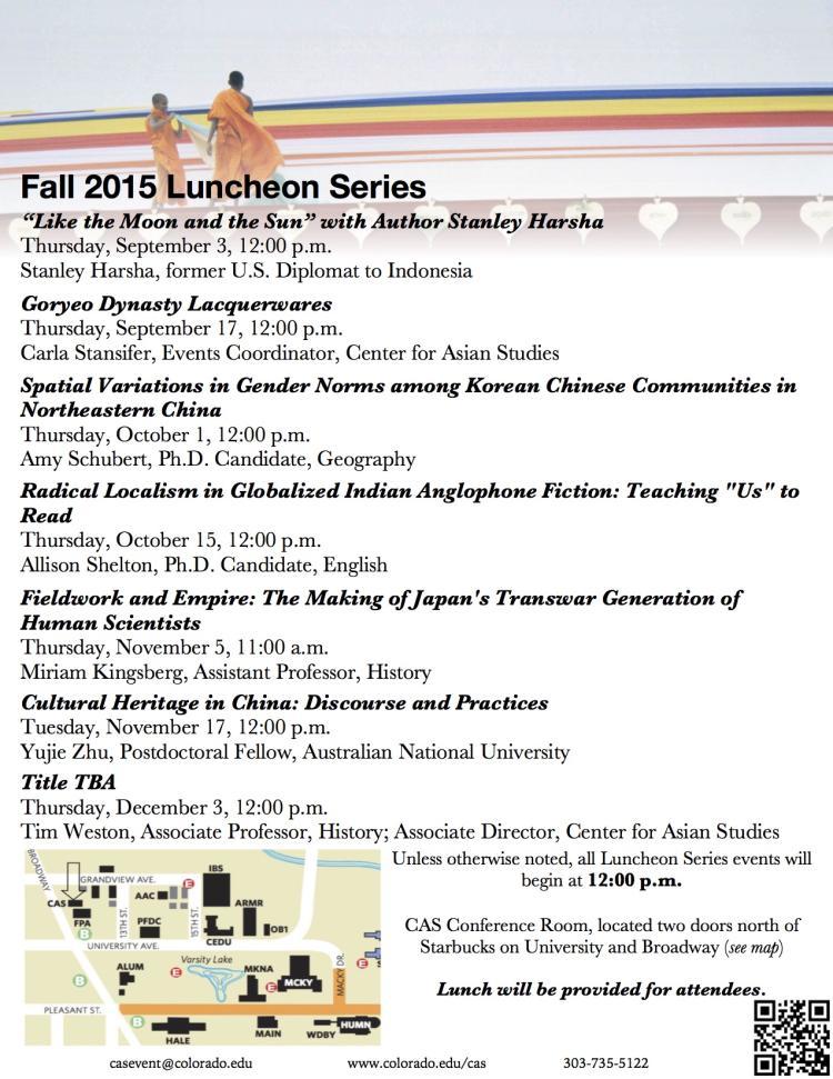 Fall 2015 CAS Luncheon Series