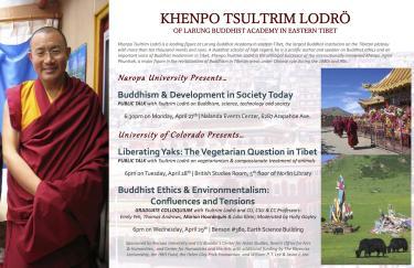 Liberating Yaks Tibet Khenpo Tsultrim Lodro at CU