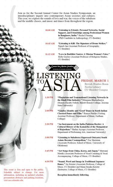 CAS Symposium 2013 Listening to Asia