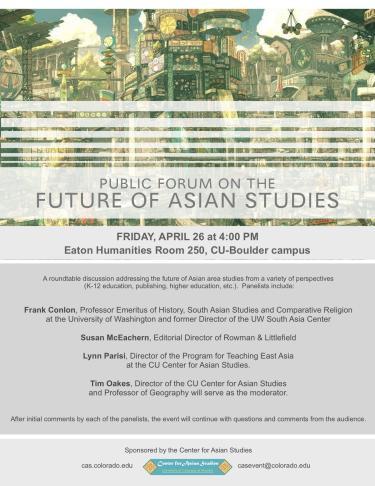 Future of Asian Studies CAS Panel