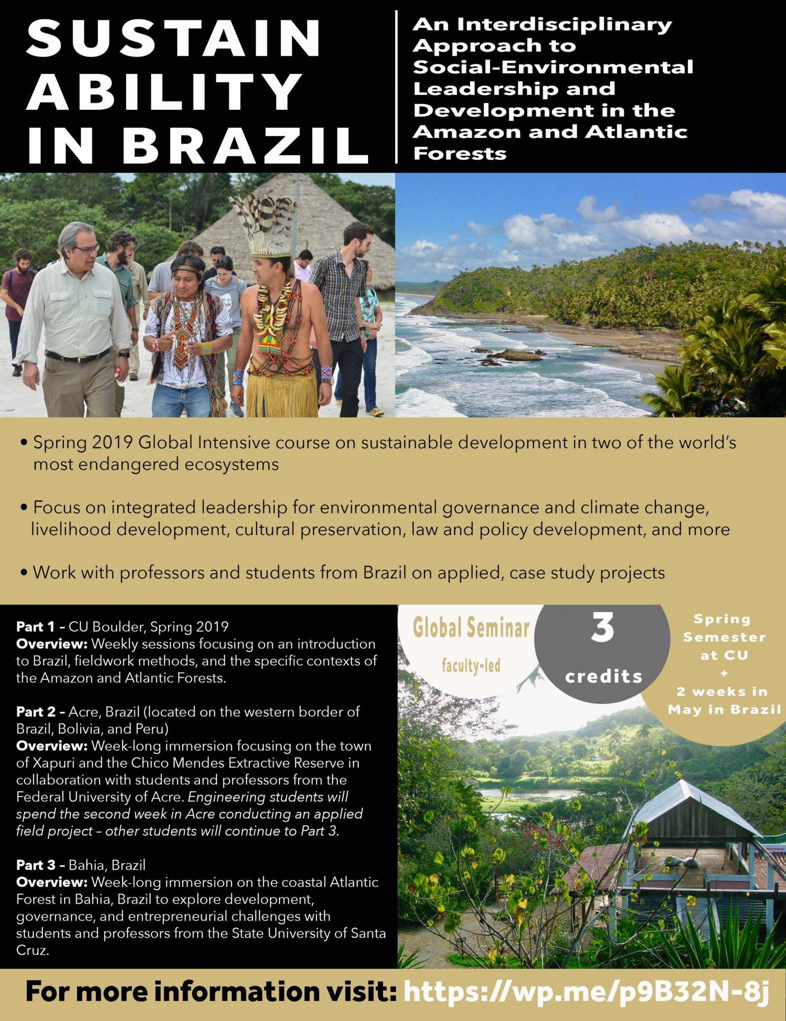 Sustainability Course in Brazil Poster