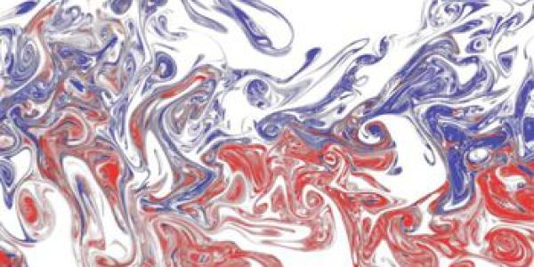 Visualization of interacting odor plumes