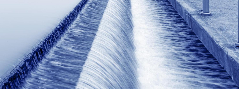 Water runs through a treatment facility.