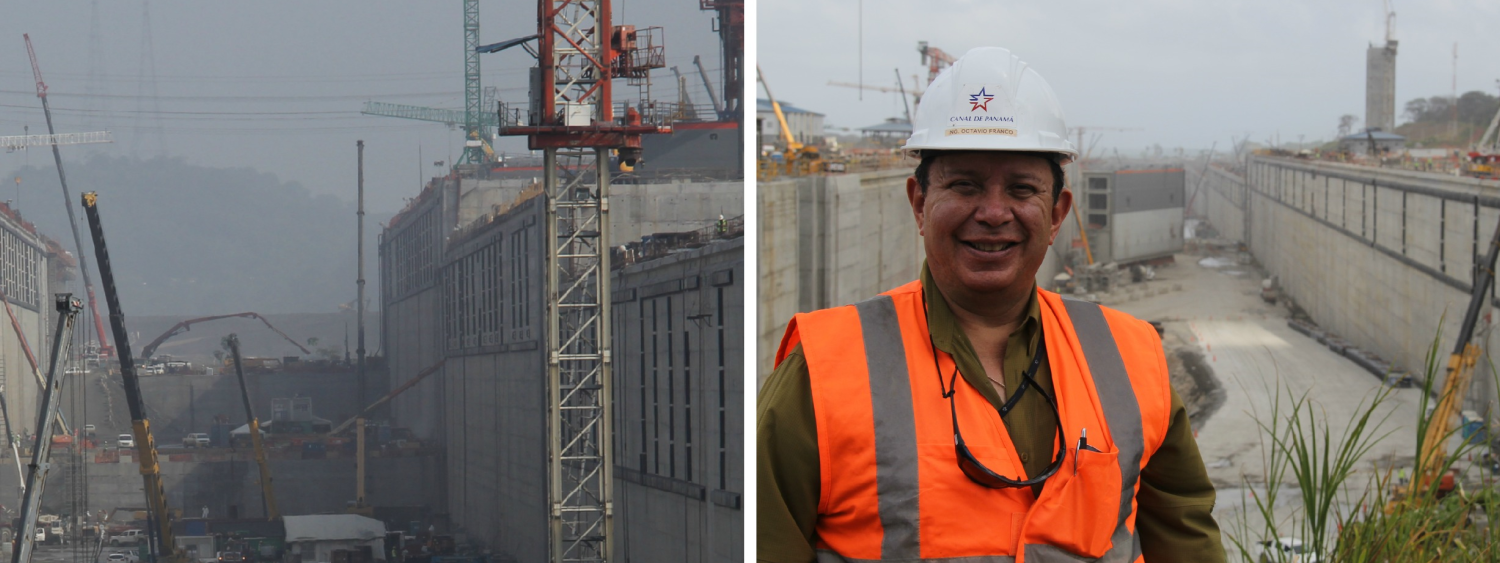 Octavio Franco on the Panama Canal worksite