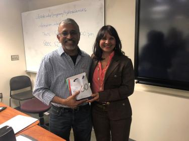 Chair Balaji Rajagopalan with Ana Rivas