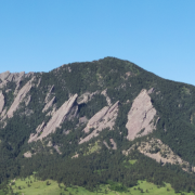 Looking out over Boulder toward the Flatirons