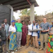 Rwanda EWB team with local residents