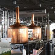 Equipment at a brewery.