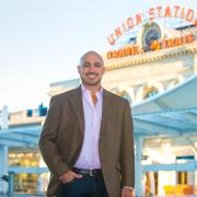 Marco Campos outside Union Station in Denver