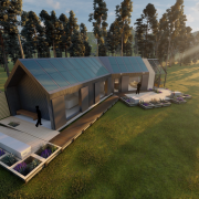 Rendering of the Solar Decathlon house