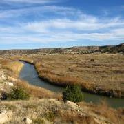 Stream running through canyon