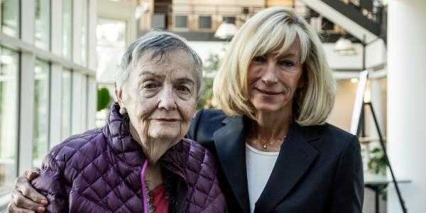 Dana Crawford and Marilee Utter pose together at the conference.