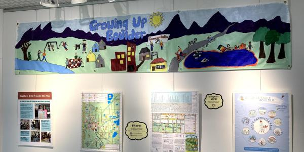 Part of Growing Up Boulder's exhibit at the Boulder Public Library