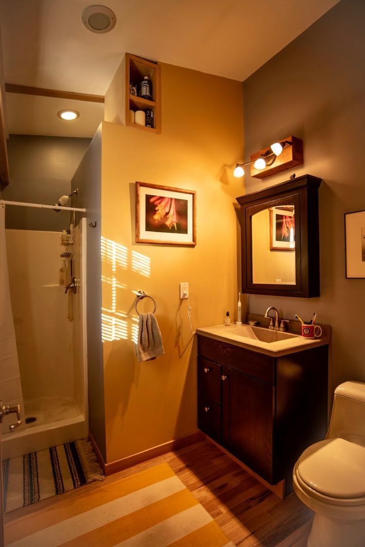 Bathroom in the Trailer Wrap