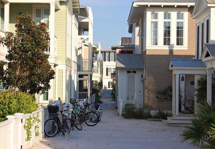 Seaside, a community planned by CNU co-founders Andrés Duany and Elizabeth Plater-Zyber.
