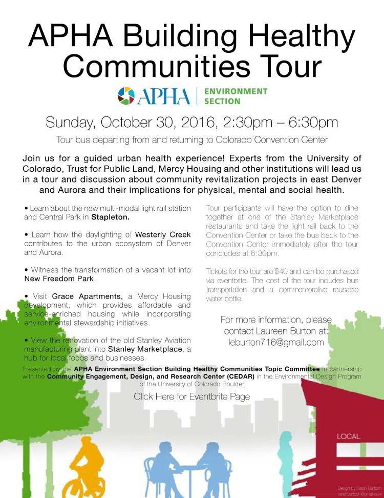 APHA Building Healthy Communities Walking Tour