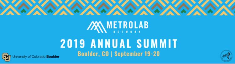 Advertisement for MetroLab Summit