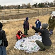 Heatherwood Elementary School children study the ecosystem and offer recommendations for nature discovery at the City of Boulder's Wood Brothers property