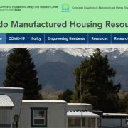 Screen shot of the new manufactured housing website.