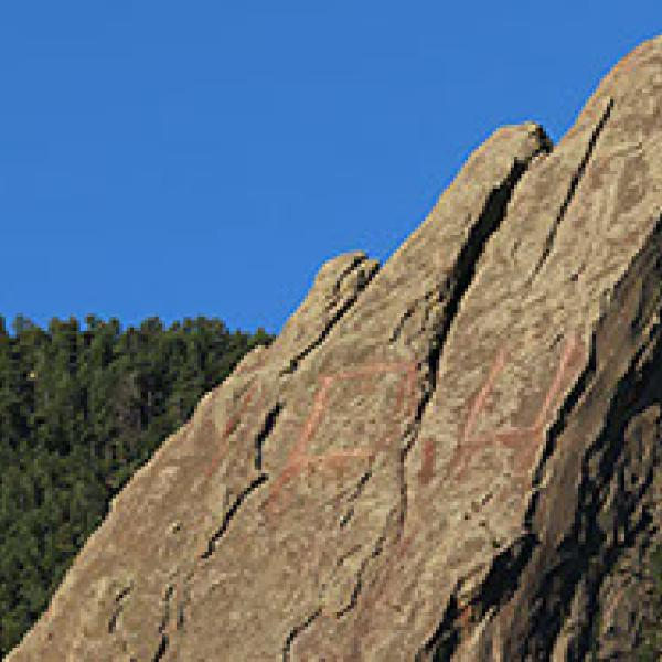 Close-up of rocky face of Flatiron