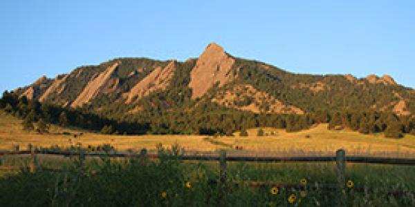 View of Flatirons