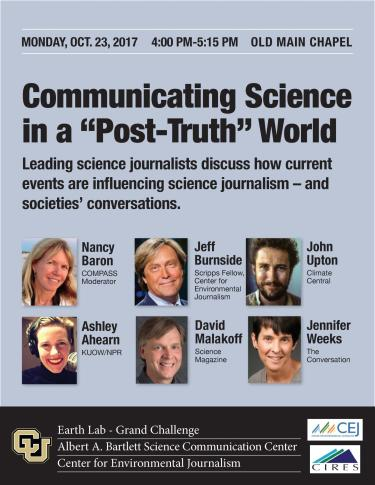 "Communicating Science in a ""Post-Truth"" World"