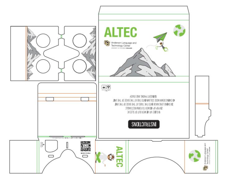 ALTEC's VR cardboard design