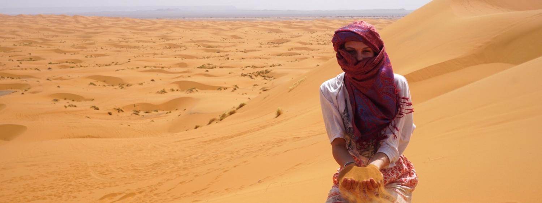 Student in Sahara Desert