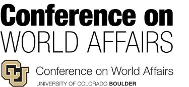 Conference on World Affairs Logo