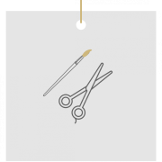 paintbrush and scissor graphic