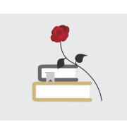 book and rose graphic