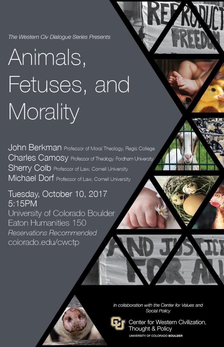 Animal, Fetuses, and Morality Poster