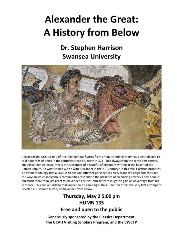 Alexander the Great: A History from Below | Bruce D  Benson Center