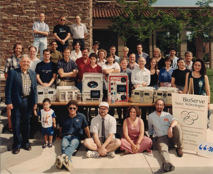 BioServe team (and family) in 1996