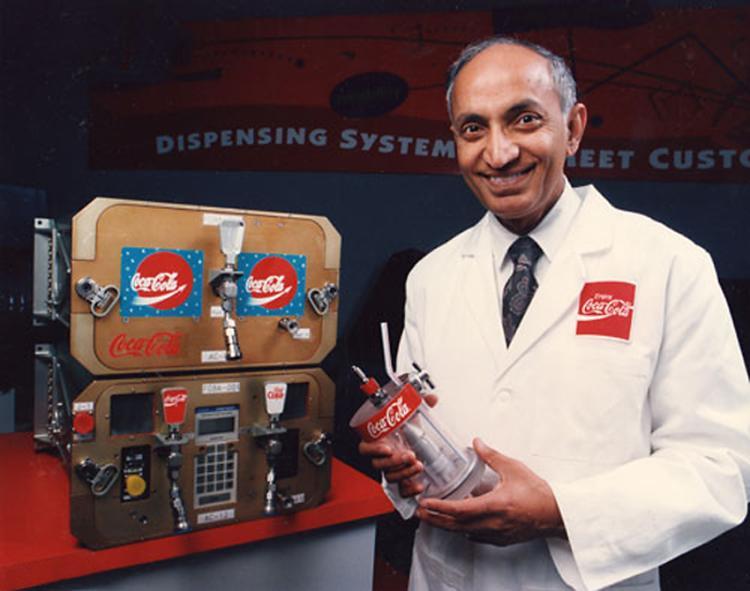 Coca-Cola scientist Dr. Ashis Gupta with FGBA-1