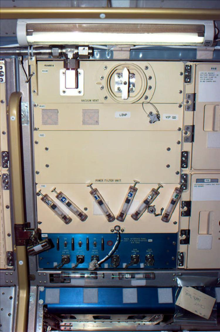 FPAs on STS-50 during the CGBA-01 experiment