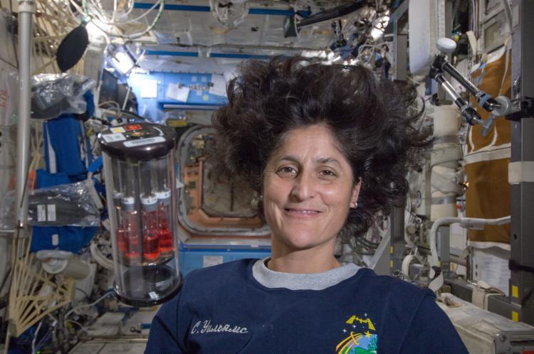 NASA astronaut Sunita Williams with a GAP