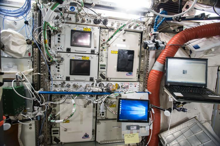 SABL-1 and SABL-2 installed on ISS