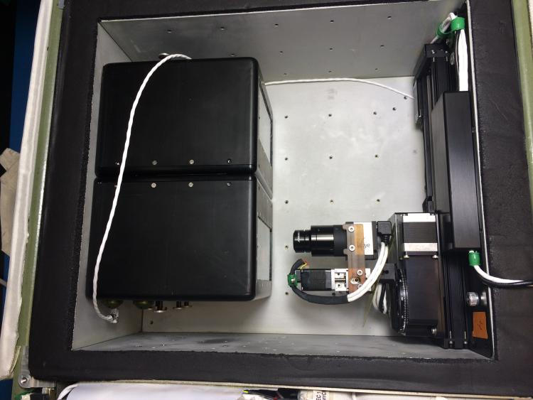 ScanCam and imaging plate mounted into CGBA