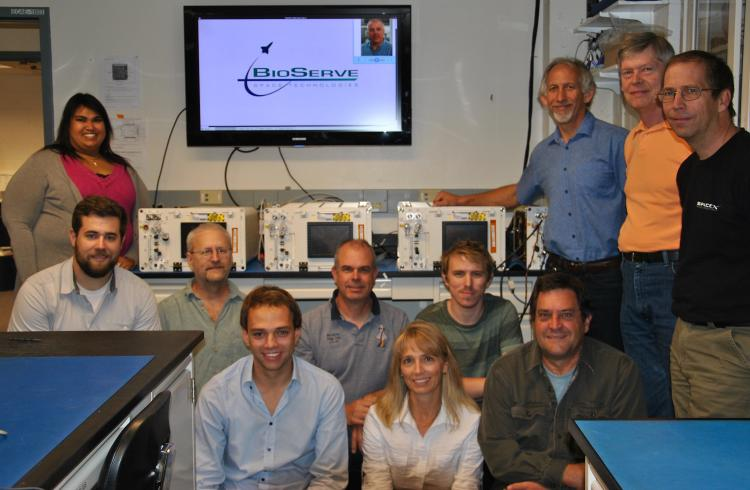 BioServe SABL team in 2015 shortly before the delivery of the first flight units to NASA