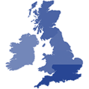Map of England and Ireland