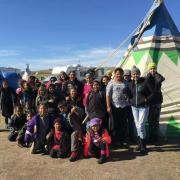 Standing Rock school. Image from Mní Wičhóni Nakíčižiŋ Owáyawa, Defenders of the Water School