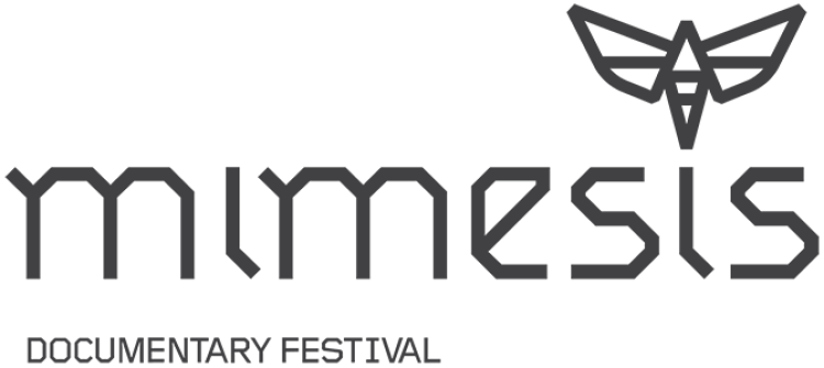 Mimesis Documentary Festival Logo with geometric moth.