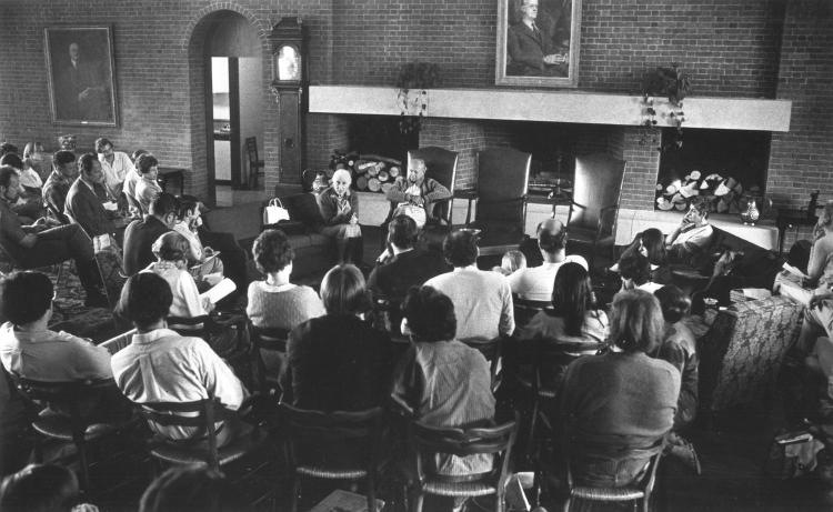 Audience with Frances Flaherty at the 1954 Flaherty Seminar.