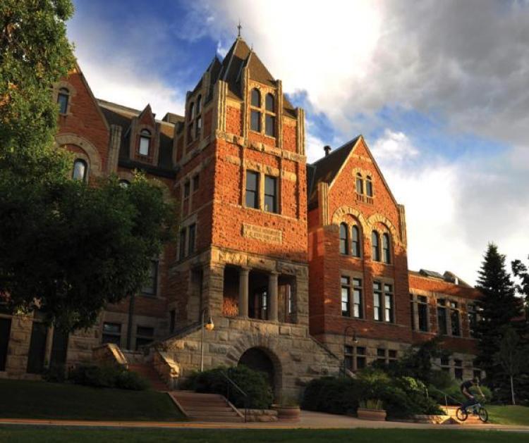 Picture of the historic Hale Sciences building at CU Boulder.