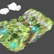 3D model of forrest