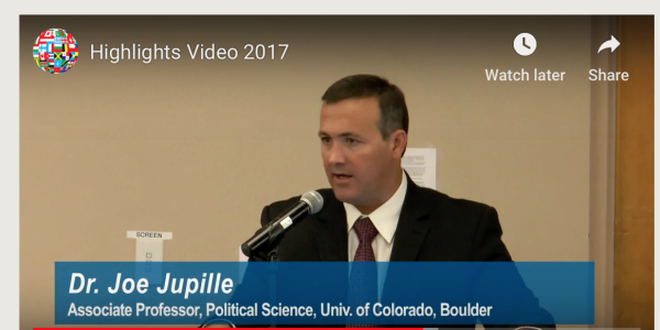 Joe Jupille speaking at Santa Fe Annual Symposium 2017