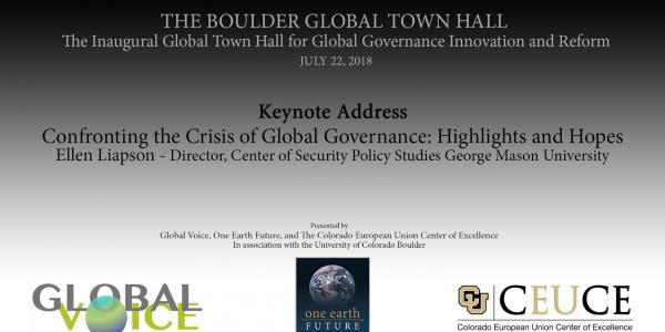 Keynote by Ellen Laipson on Sunday July 22, 2018