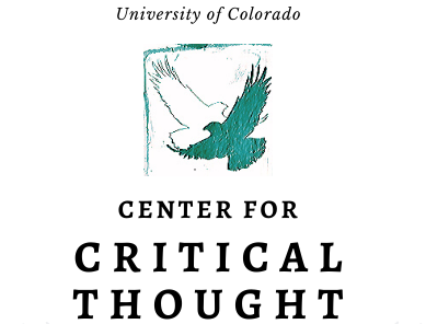 Center for Critical Thought's Logo (dual eagles in blue)