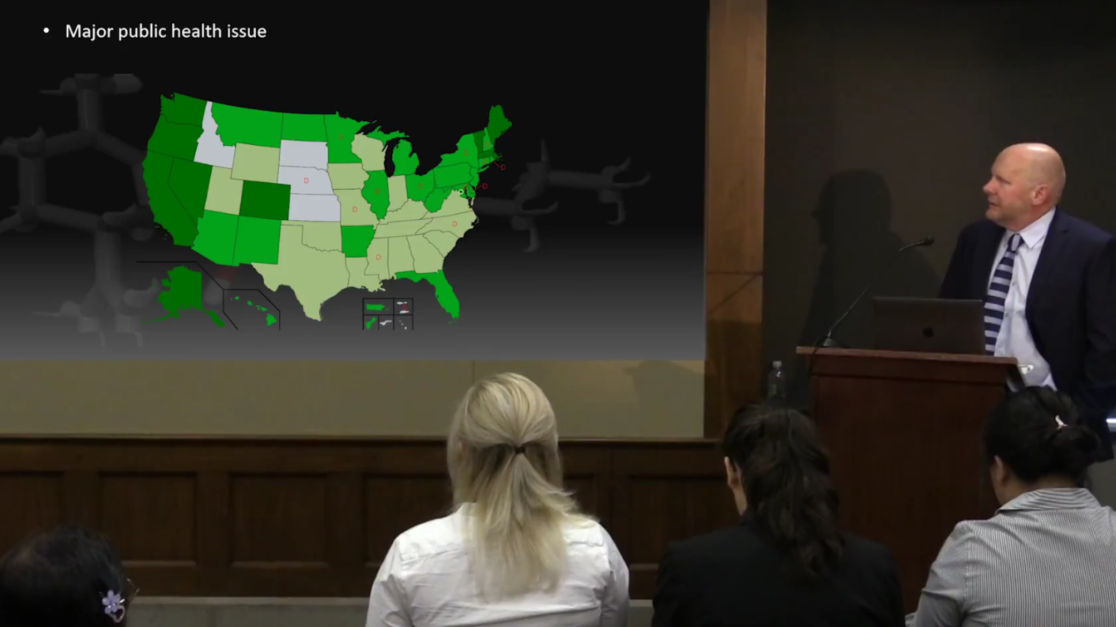 Kent Hutchison and map coded by cannabis legality status